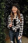 Black Plaid Top