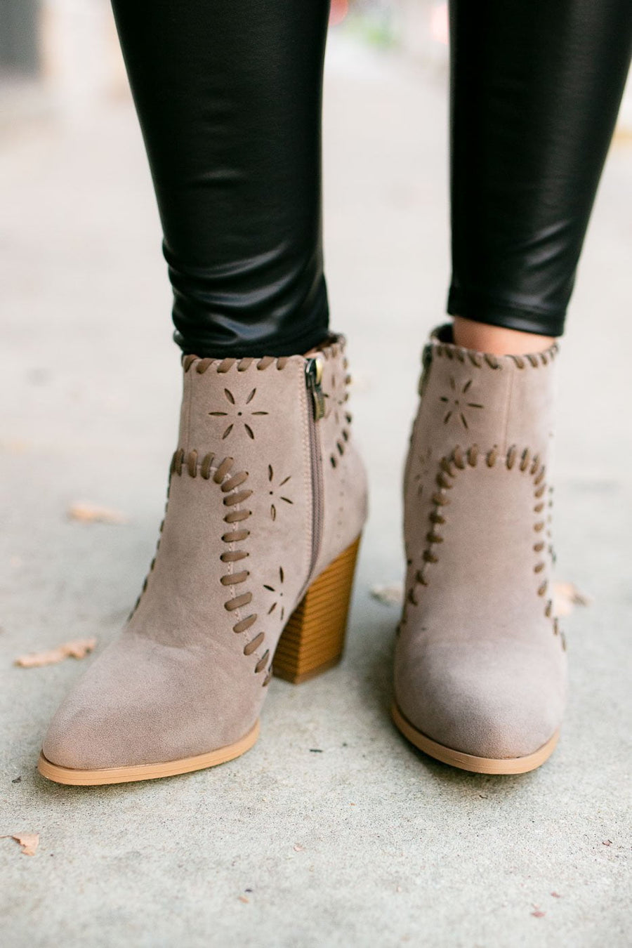 Commitment Taupe Ankle Booties