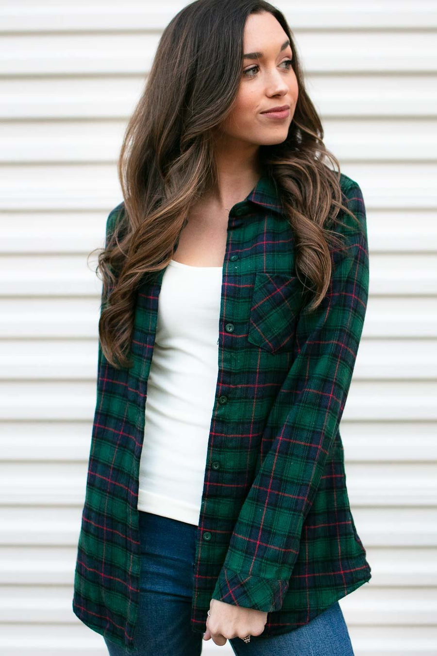 Thanks It's New Plaid Fur Lined Top