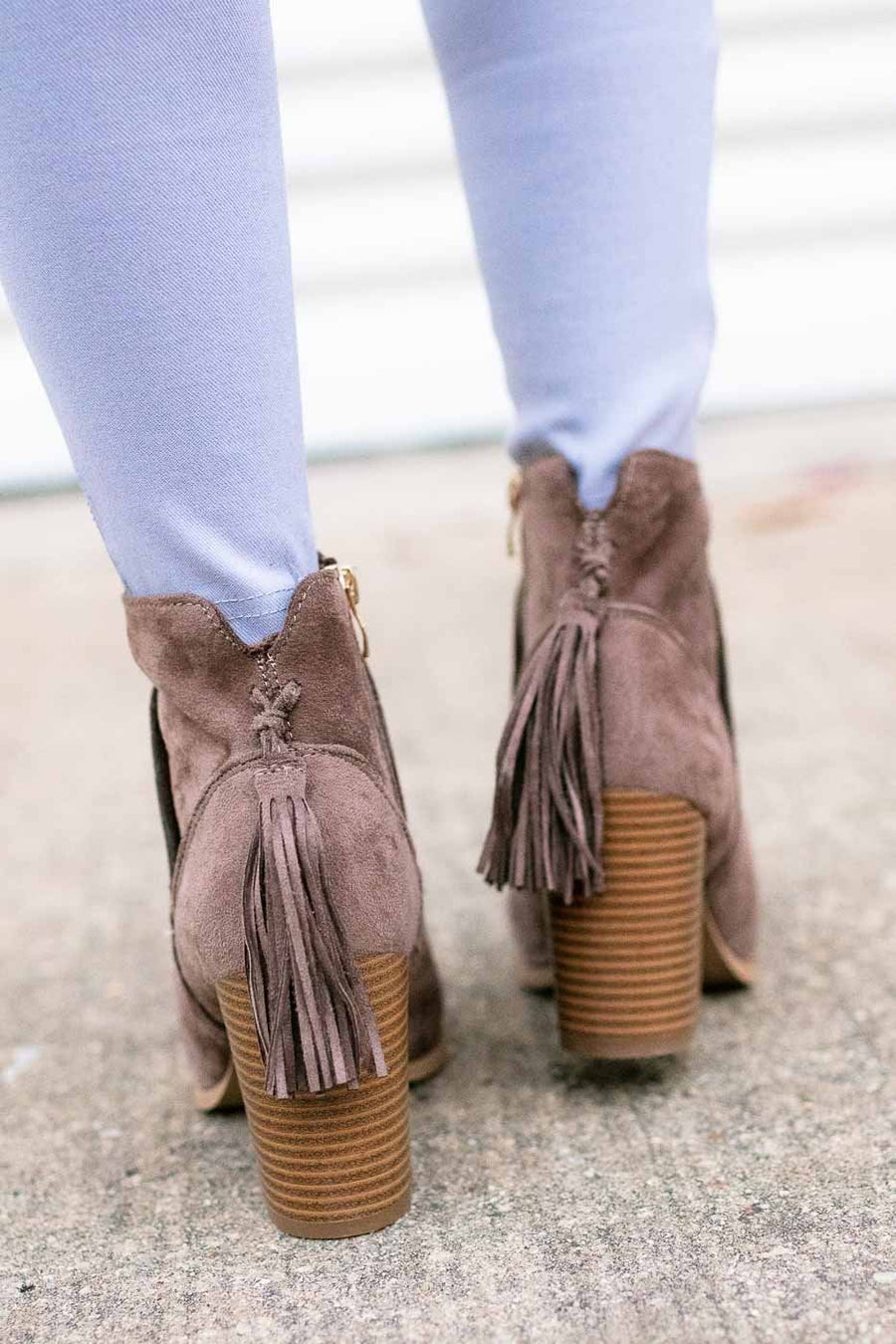 Back Tassel Booties