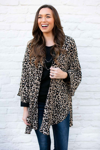 It's All Spotty Cheetah Print Kimono