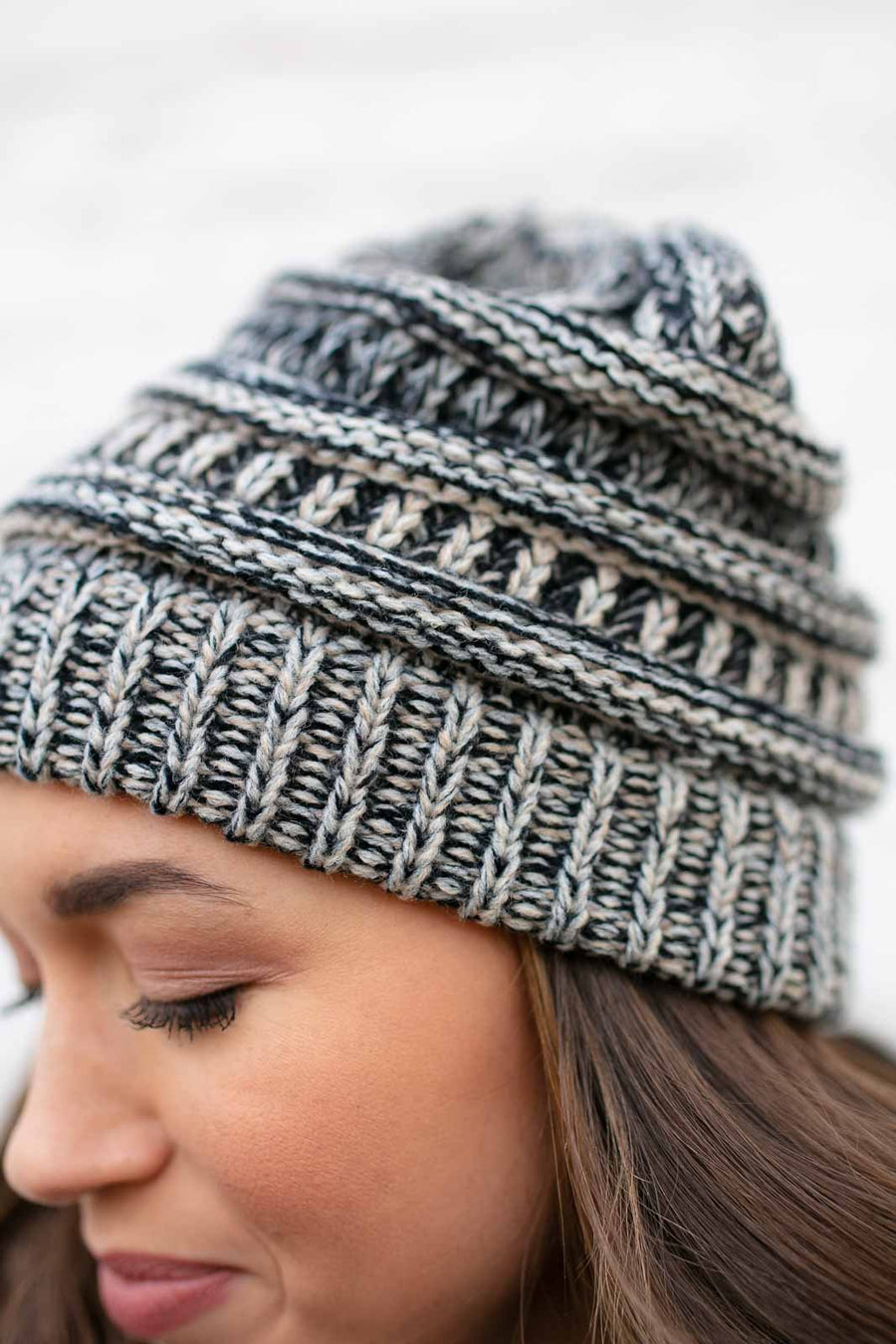 Taupe Knit Beanie