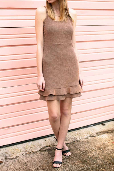 Shimmer Rose Gold Dress