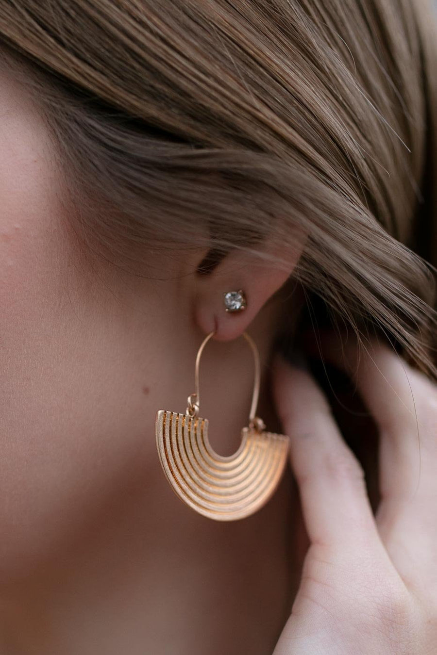 The Best Way Geometric Gold Earrings