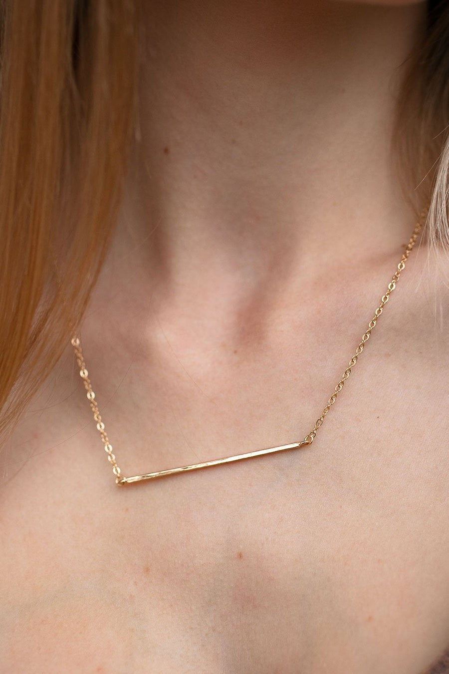 Days Go By Basic Bar Necklace