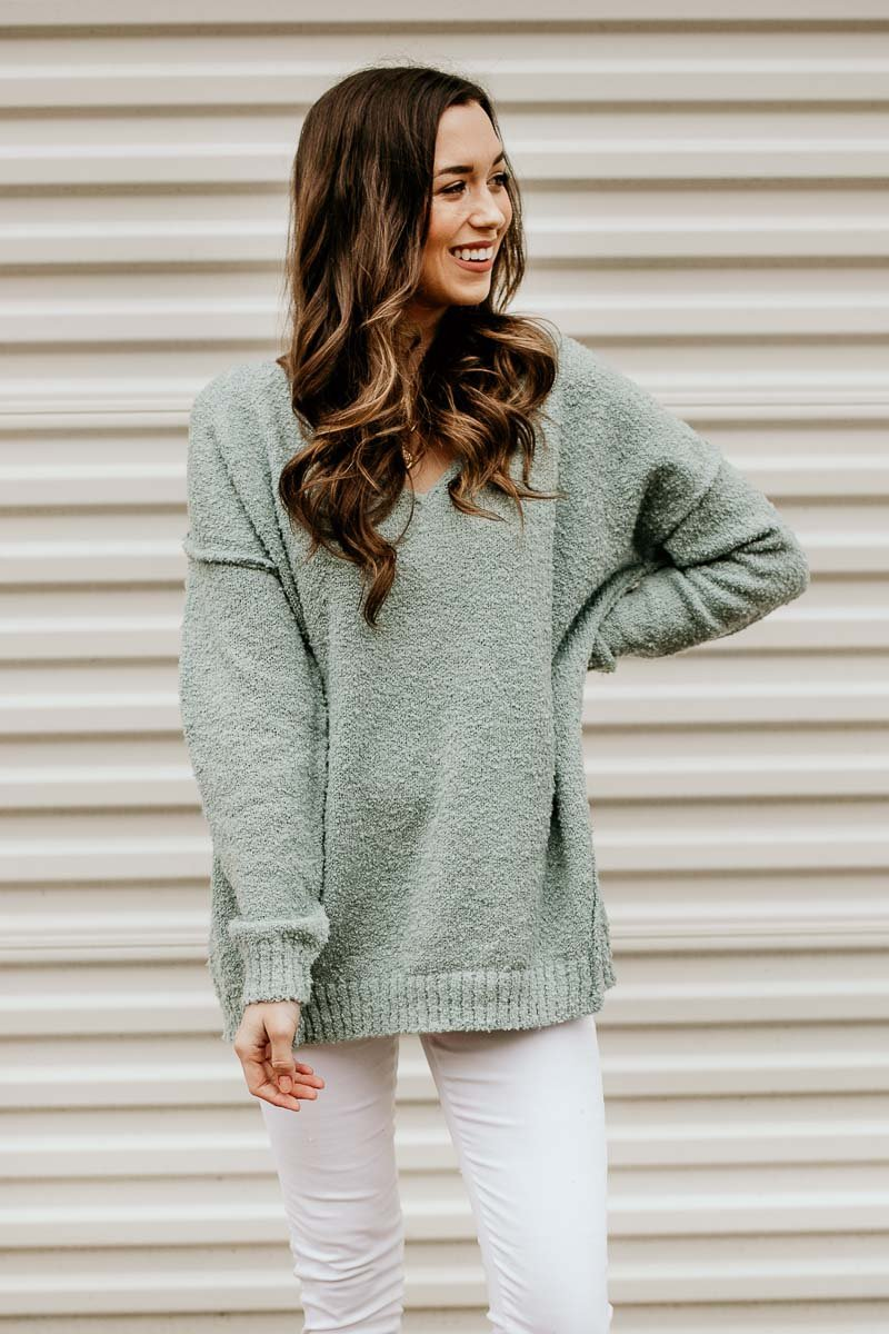 c7762f4e5dd Mint Oversized Sweater - Such A Soft
