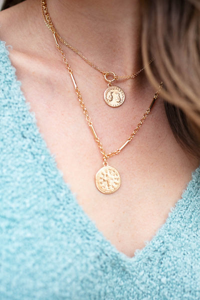 Gold Layer Coin Necklace