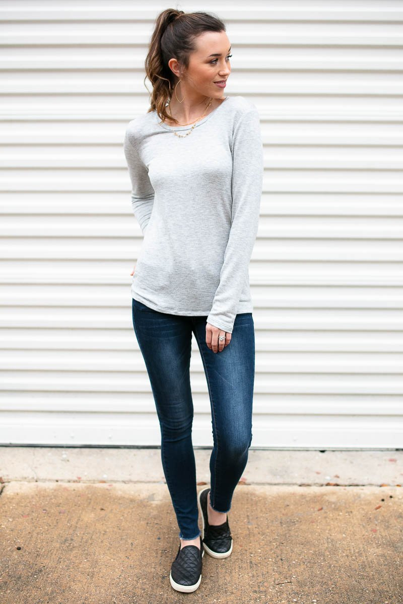 Grey Long Sleeve Tee
