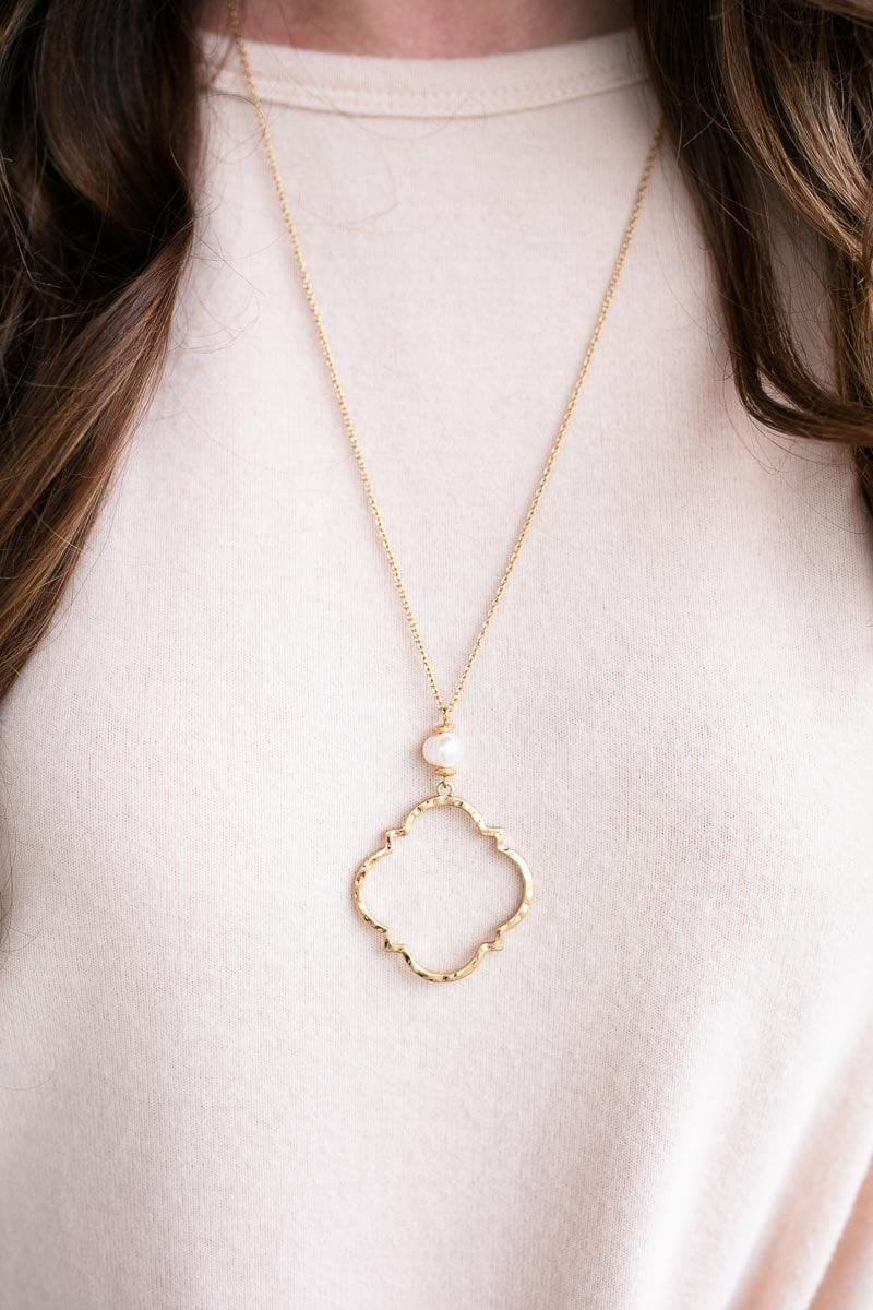 Let's Talk About It Quatrefoil Necklace