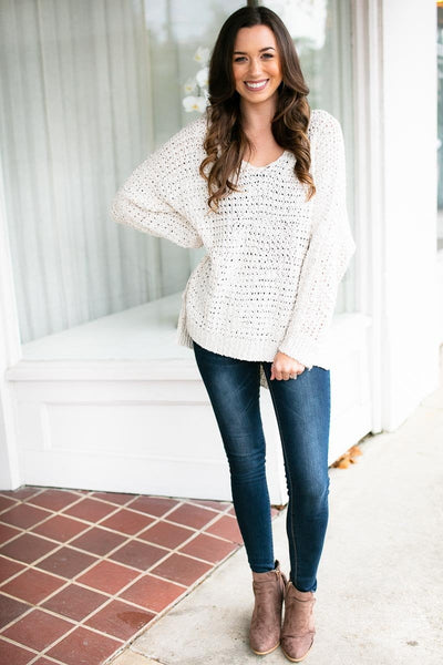 Arms Around You Beige Dolman Sweater