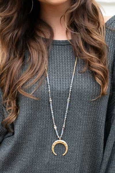 Something Special Grey Long Necklace
