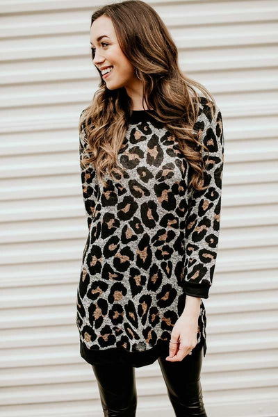 The Oldest Love Leopard Print Tunic