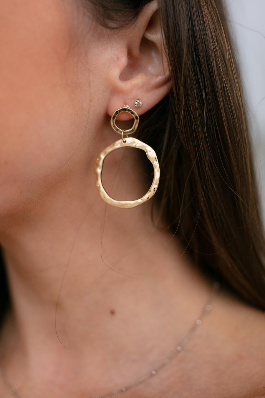Peace Here Circle Dangle Earrings