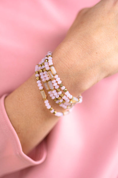 Love In the Air Beaded Wrap Bracelet
