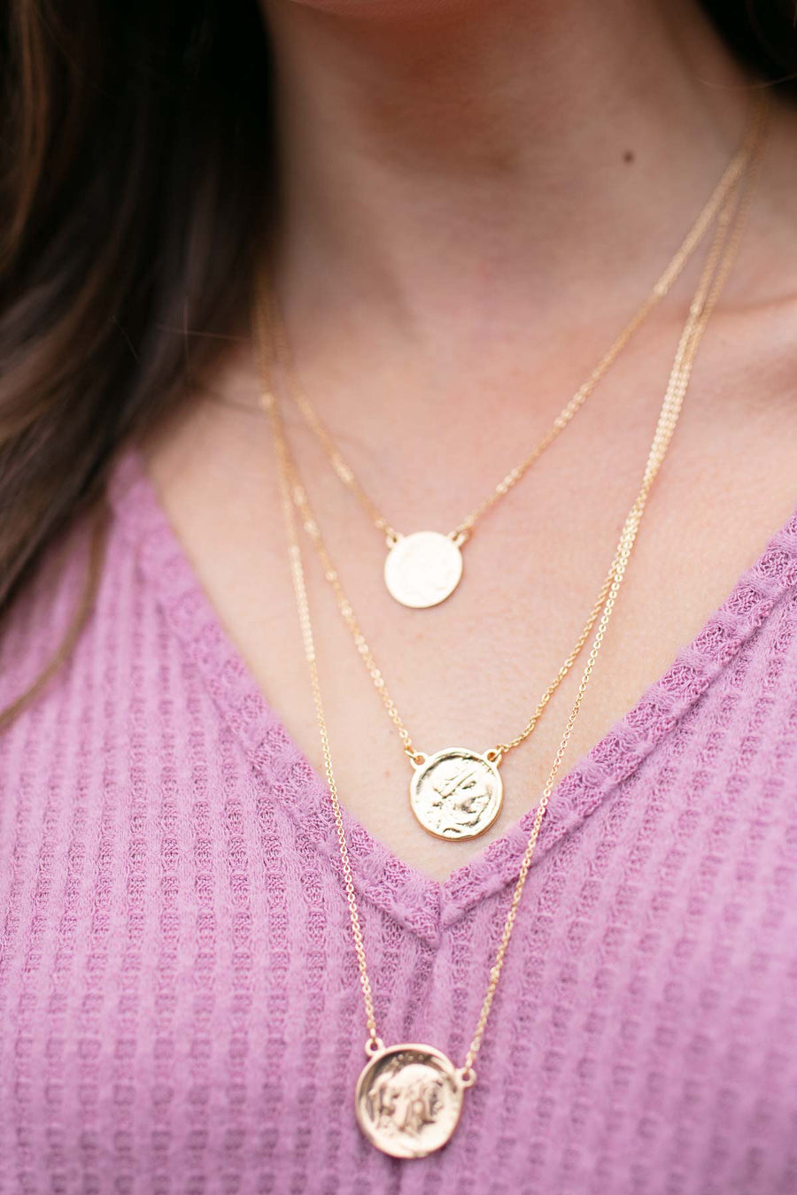 Heads or Tails Layered Coin Necklace