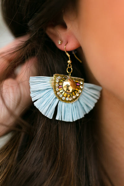 Perfectly Sky Large Statement Earrings