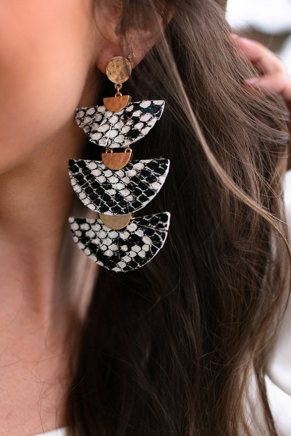 Layered Fan Snake Earrings