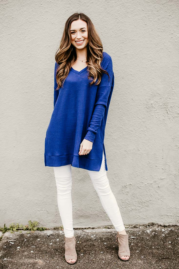 Brushed Thermal Waffle Knit Tunic