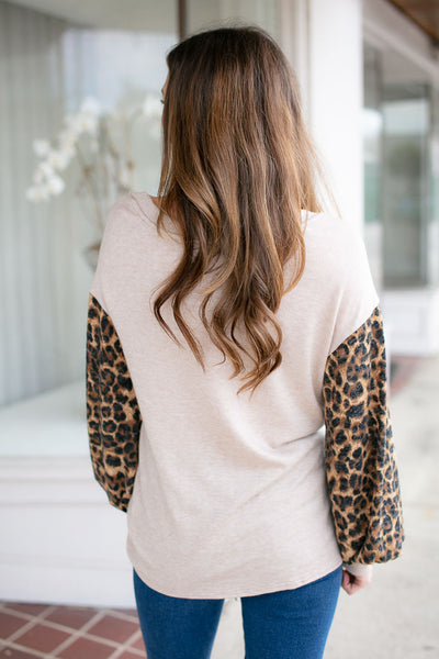 Leopard Print Knot Front Top