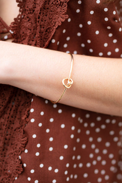 Gold Pretzel Bangle Bracelet