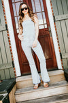The Jenna Flare Overalls with Open Back