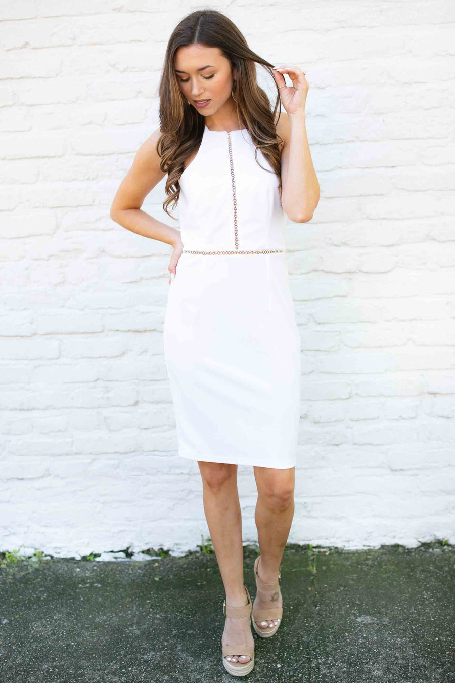 Paradise Tight Fitting White Dress