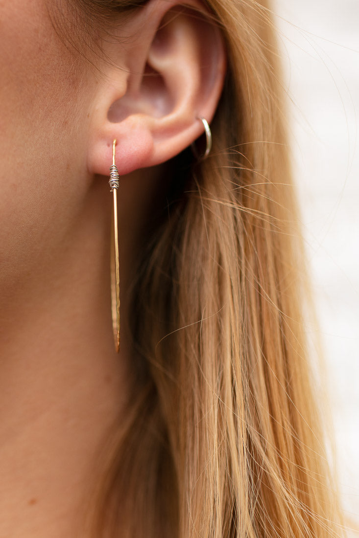 Simple is Best Gold Teardrop Hoop Earrings