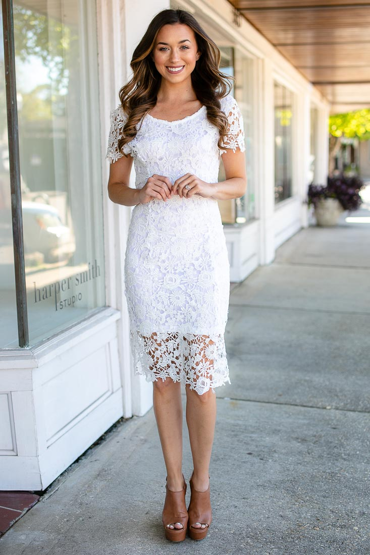 3ca4c27f569 Don t Forget It Open Back Lace Dress