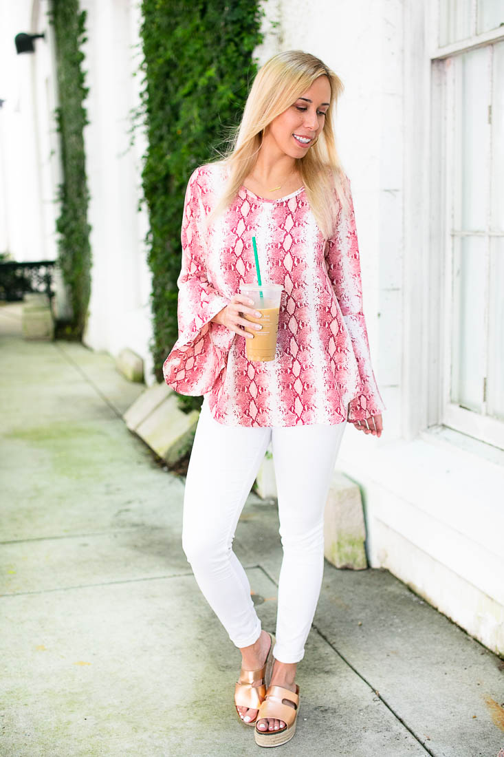 No Surprise Bell Sleeve Blouse