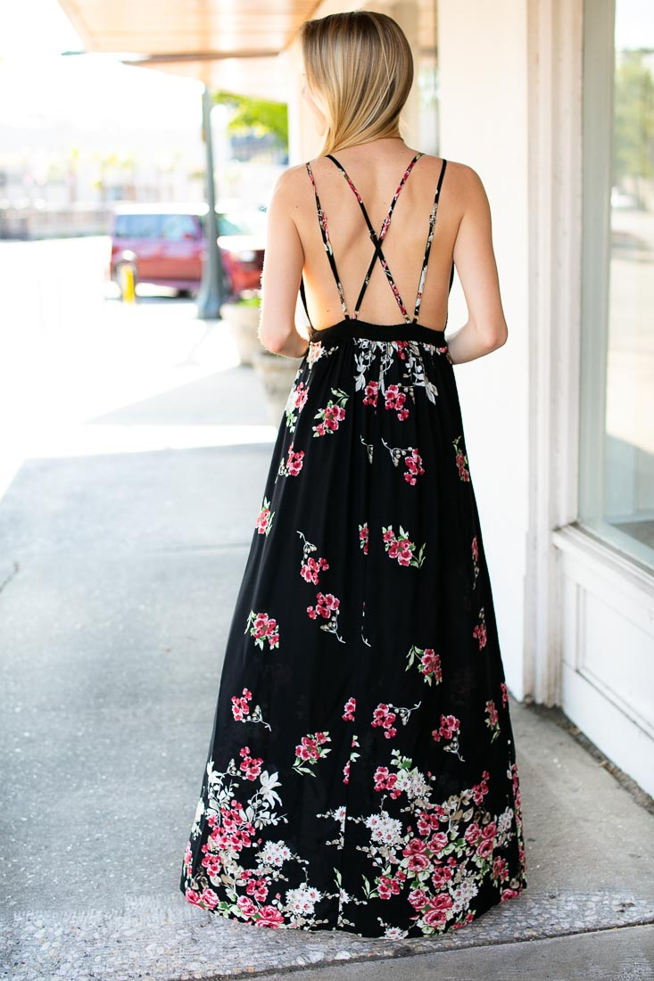Always Been You Open Back Maxi Dress