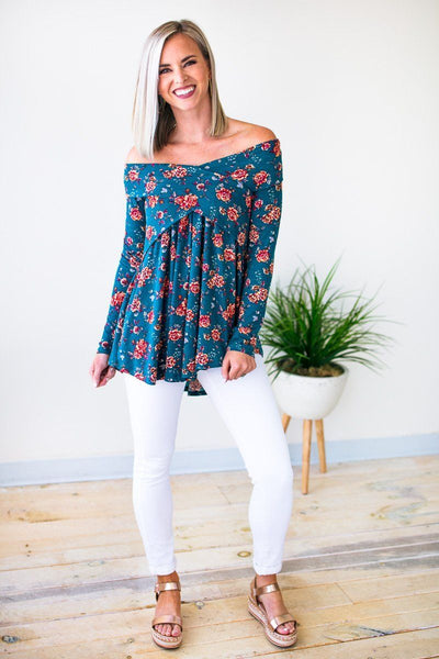 Tops Rebel Romance Off Shoulder Floral Top - Lotus Boutique