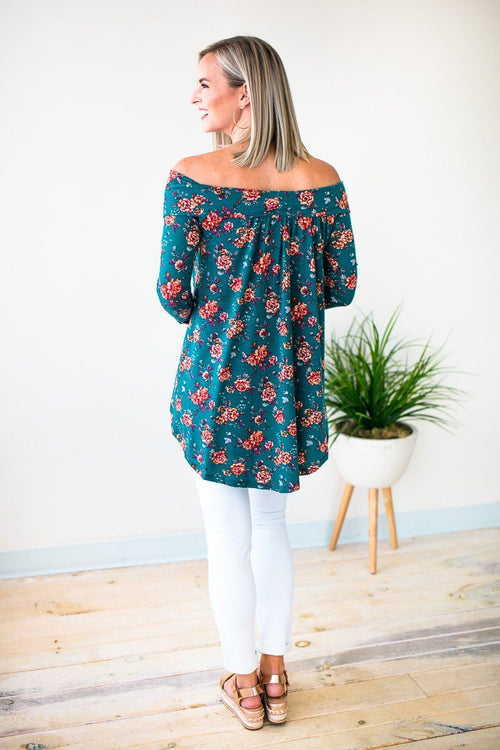 Rebel Romance Off Shoulder Floral Top