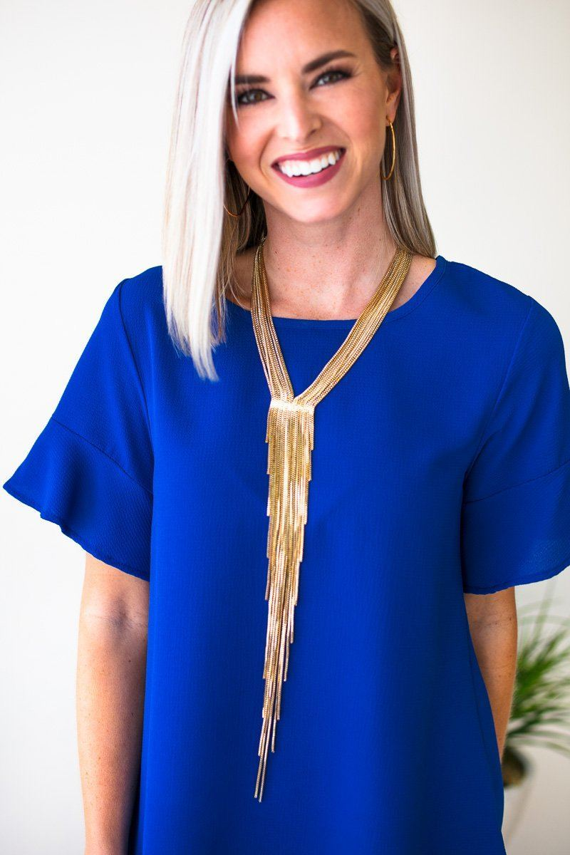 Layered Tassel Gold Necklace