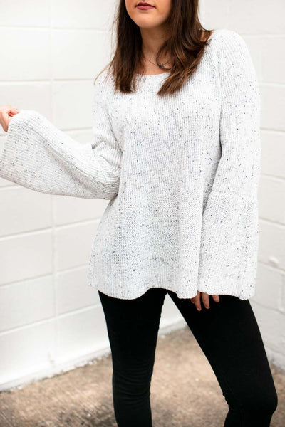 Cookies And Cream Bell Sleeve Sweater