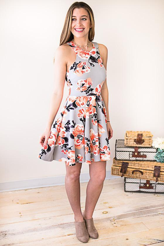 On My Radar Floral Fit and Flare Dress
