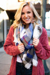 Accessories Traveling Blues Blanket Scarf - Lotus Boutique