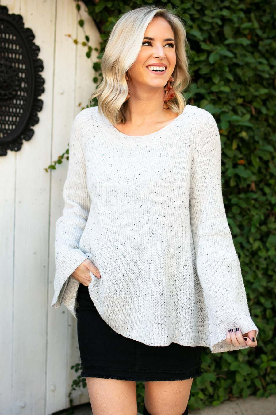Cookie n Cream Bell Sleeve Sweater