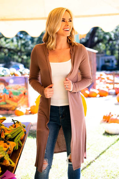 Tops Let's Make Our Getaway Hoodie Cardigan - Lotus Boutique