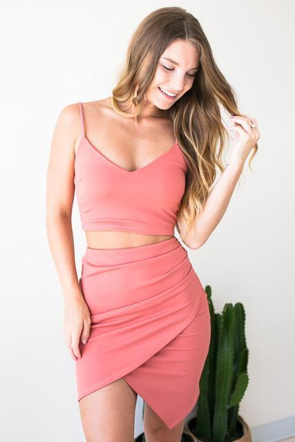 Own It Peach Matching Set - SKIRT