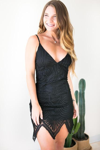 Lace In Love Dress - Black-Dresses-Lotus Boutique-Lotus Boutique