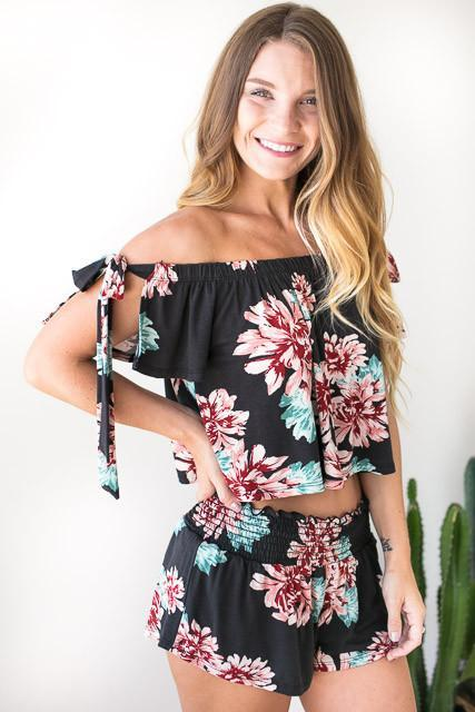 Forever Floral Matching Set - Shorts