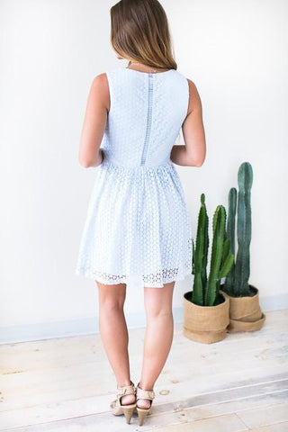 Sweet Low Cut Fit and Flare Dress