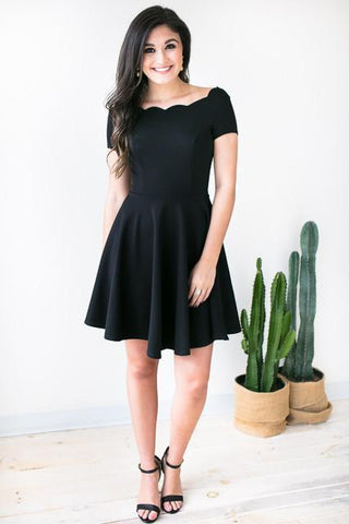 Butterfly Effect Fit and Flare Dress - Black