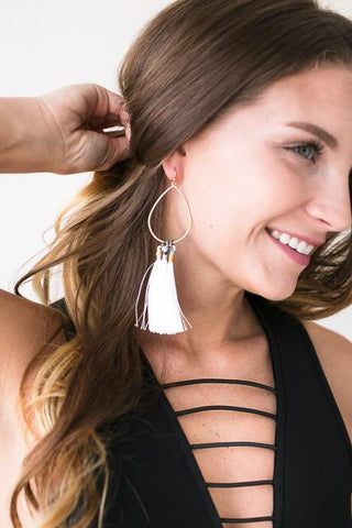 Weekend Tassels Tear Drop Earrings