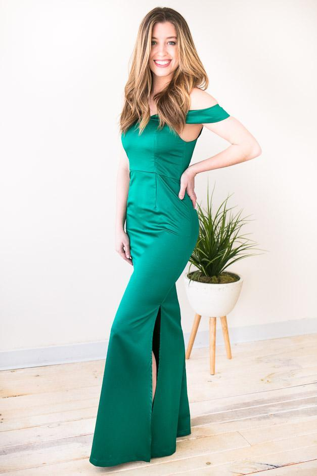 Dresses Jealousy Emerald Green Ball Gown - Lotus Boutique