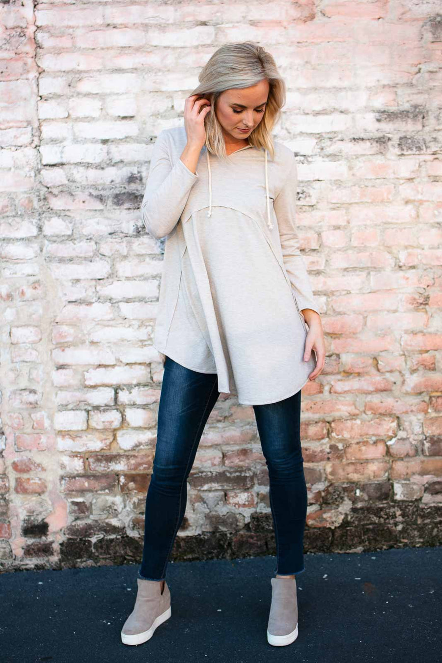 Top Be Somebody Hoodie Tunic - Lotus Boutique