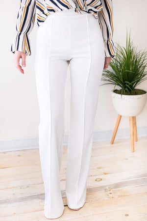 White Flare Pants