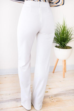 Soft Pants with Back Zipper