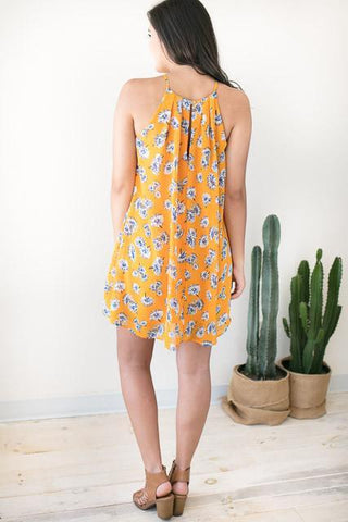 Wildest Dreams Trap Neck Dress - Floral