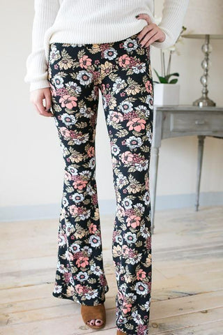 Pastel Vibes Floral Bell Bottoms